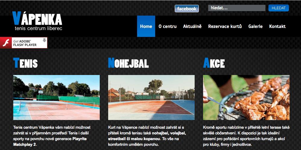 Vápenka tenis centrum Liberec